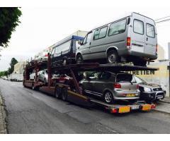 Transportam autoturisme Londra-Cluj