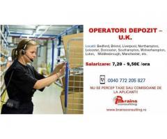 Angajam operator depozit UK- Bristol