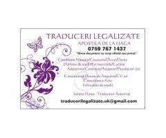TRADUCERI LEGALIZATE ORIUNDE IN UK/SCOTIA