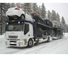 Transport autorizat de autoturisme pe trailer